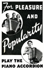 Retro accordion poster II