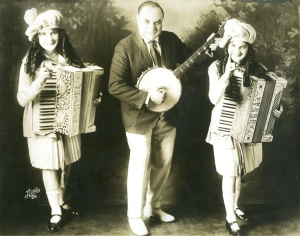 Father with Daughters Vaudeville 1920's