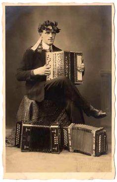 Victorian accordionist
