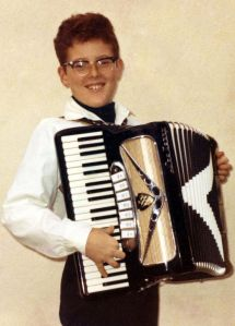Young Alfred with accordion