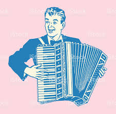 retro man with accordion
