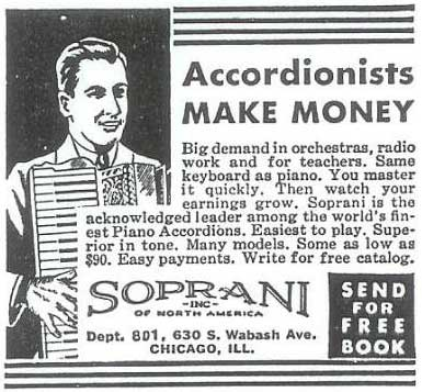 Newspaper ad accordion