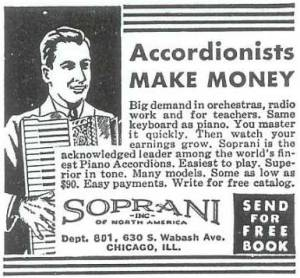 Newspaper ad accordion
