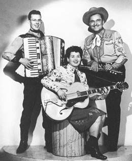 Tutmarc Trio, Marlin Hickerson (accordion, Bonnie Tutmarc (guitar) and Paul Tutmarc, c. early 1950's