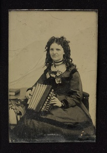 Young Woman with Flutina
