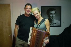 Vince Gill with Natasha Enquist at the Station Inn, Nashville, TN