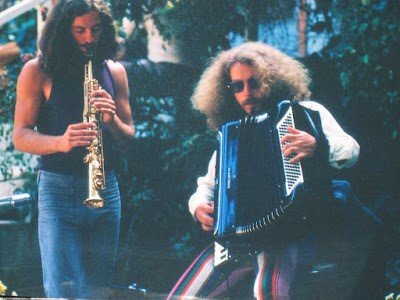 Marc Baum soprano saxophone and Jon Hammond 1971 Photo by Bob Fratti